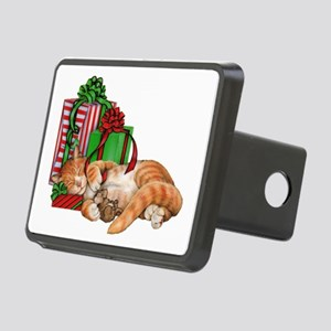 Cute Cat, Mouse And Rectangular Hitch Cover