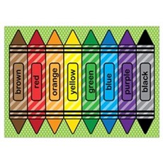 Rainbow Crayons Wall Art Poster