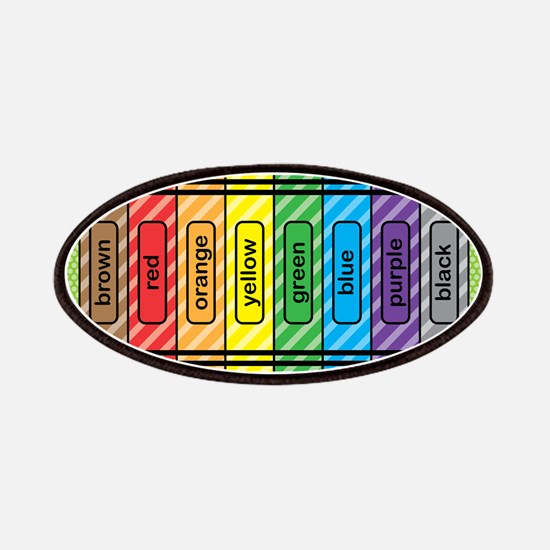 Rainbow Crayons Patches