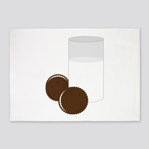 Milk Cookies 5'x7'Area Rug
