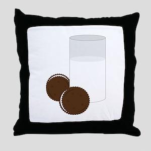Milk Cookies Throw Pillow