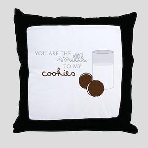 Milk to Cookies Throw Pillow