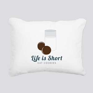 Life is Short Rectangular Canvas Pillow