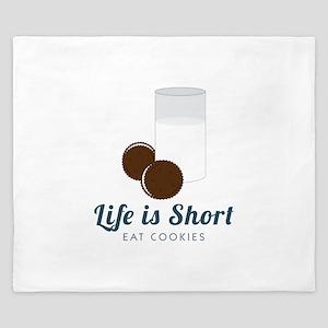 Life is Short King Duvet