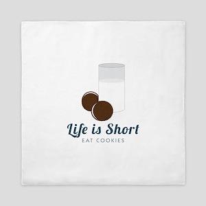 Life is Short Queen Duvet
