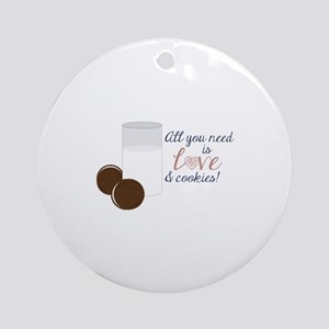 Love & Cookies Ornament (Round)