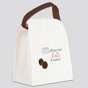 Love & Cookies Canvas Lunch Bag