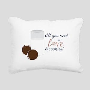 Love & Cookies Rectangular Canvas Pillow