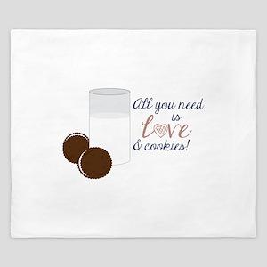 Love & Cookies King Duvet