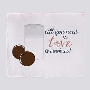 Love & Cookies Throw Blanket