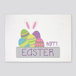 Happy EASTER 5'x7'Area Rug