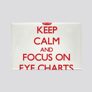 Keep Calm and focus on EYE CHARTS Magnets