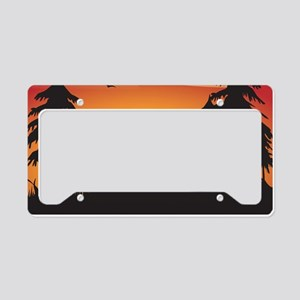 The wolf License Plate Holder