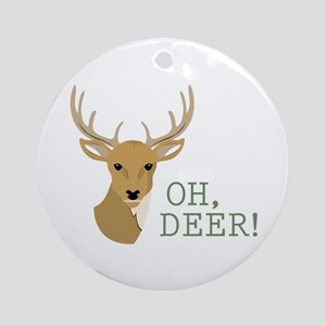 Oh, Deer! Ornament (Round)