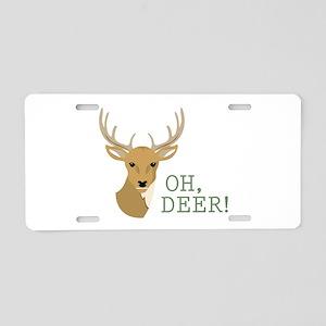 Oh, Deer! Aluminum License Plate