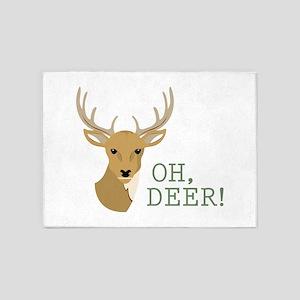 Oh, Deer! 5'x7'Area Rug