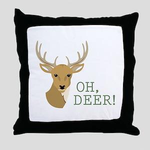Oh, Deer! Throw Pillow