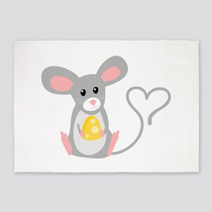 Little Mouse 5'x7'Area Rug