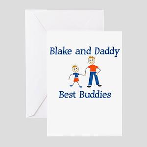 Blake & Daddy - Best Buddies Greeting Cards (Packa