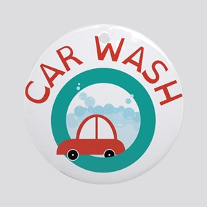 CAR WASH Ornament (Round)