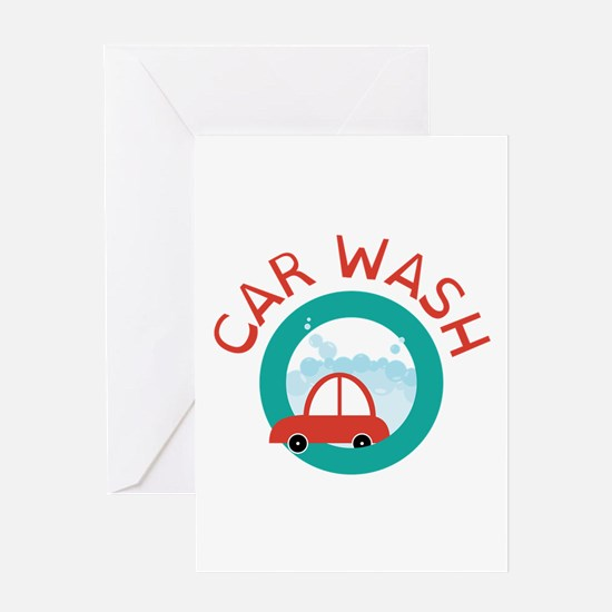 CAR WASH Greeting Cards