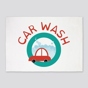 CAR WASH 5'x7'Area Rug
