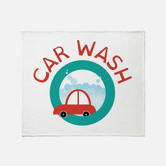 CAR WASH Throw Blanket