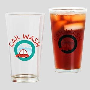 CAR WASH Drinking Glass