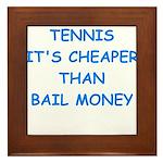 tennis Framed Tile