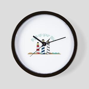 Light house wall clocks cafepress light up your life wall clock aloadofball Images