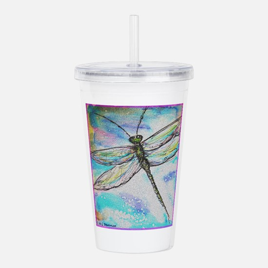 Dragonfly! Nature art! Acrylic Double-wall Tumbler