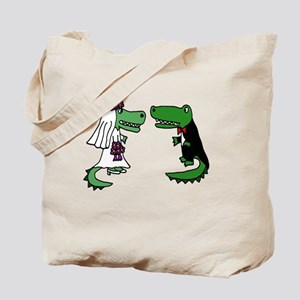 Alligator Wedding Tote Bag