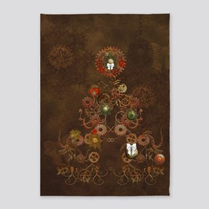 Steampunk Christmas 5'x7'Area Rug