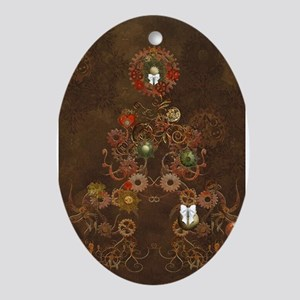 Steampunk Christmas Ornament (Oval)