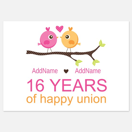 16th Custom Wedding Anniversary Invitations