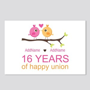 16th Custom Wedding Anniv Postcards (Package of 8)