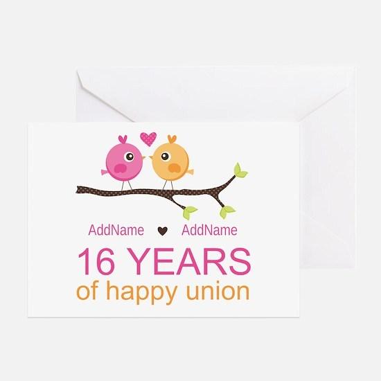 16th Custom Wedding Anniversary Greeting Card