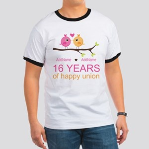 16th Custom Wedding Anniversary Ringer T