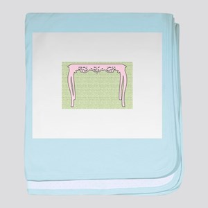 Antique Table baby blanket