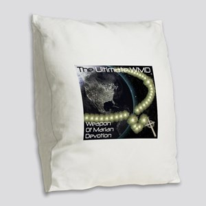 WMD Weapon of Marian Devotion Burlap Throw Pillow
