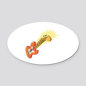 Electric Guitar Musical Instrument Oval Car Magnet