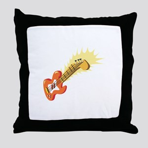 Electric Guitar Musical Instrument Throw Pillow