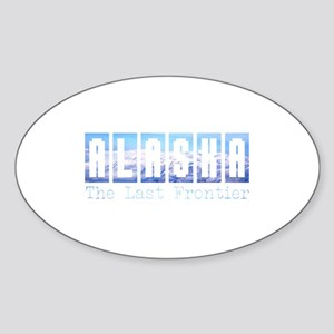 Alaska . . . The Last Frontie Oval Sticker