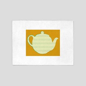 Tea Pot 5'x7'Area Rug