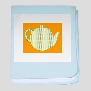 Tea Pot baby blanket