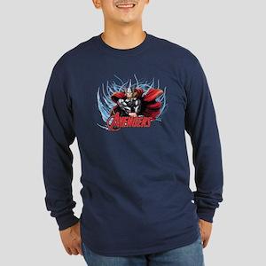 Thunder Thor Long Sleeve Dark T-Shirt
