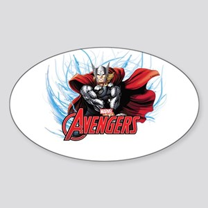 Thunder Thor Sticker (Oval)