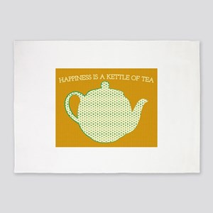 Happiness Is A Kettle Of Tea 5'x7'Area Rug