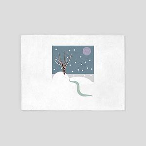 Winter Scene 5'x7'Area Rug