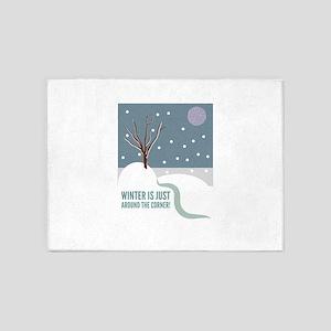 Winter Is Just Around The CornerWinter Scene 5'x7'